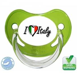 Tétine personnalisée i love Italy