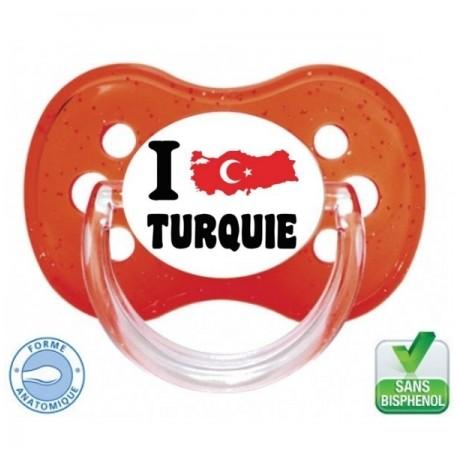 Tétine personnalisée i love Turquie