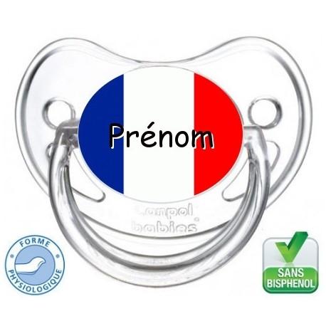 sucette bébé drapeau France-Sucette bébé i love France-Tétine personnalisée Pays