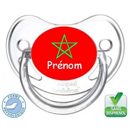 sucette bébé avec le drapeau du Maroc-Tétine personnalisée Pays