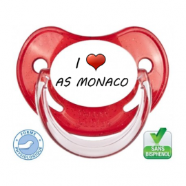 Sucette bébé I love l'AS MONACO