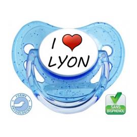 Sucette bébé I love Lyon