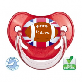 Sucette bébé Rugby Angleterre