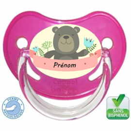 Tétine bébé avec un ourson