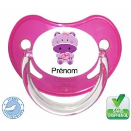 Tétine bébé avec un hippopotame