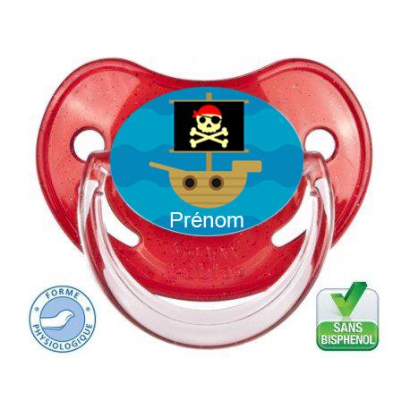 Tétine bébé bateau pirate