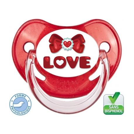 Tétine bébé Love version 3