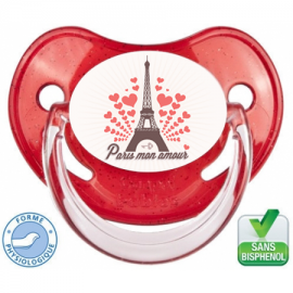 Tétine bébé Paris mon amour