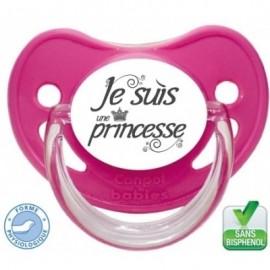 """Sucette bébé """"je suis une princesse """""""