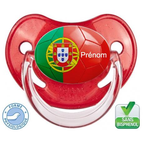 Sucette bébé ballon foot Portugal