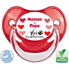 """Sucette bébé """"Maman Papa Moi"""""""