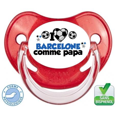 Tétine personnalisée club fc Barcelone