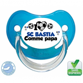 Tétine personnalisée club Bastia