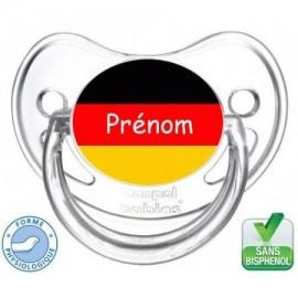 Tétine bébé drapeau Allemagne