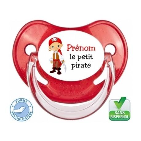 Tétine bébé prénom le petit pirate