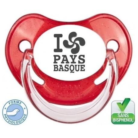 """Sucette personnalisée """"I love pays basque"""""""