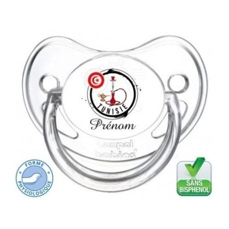 Tétine bébé personnalisée logo Tunisie