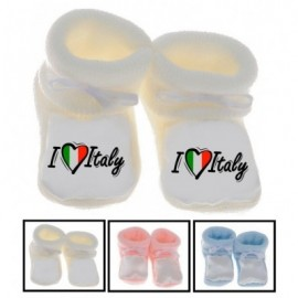 Chaussons bébé I love Italy