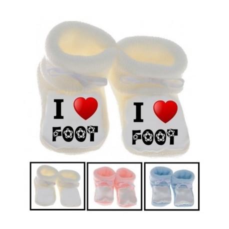 Chaussons bébé I love foot