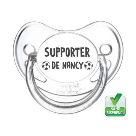 Tétine bébé supporter de Nancy