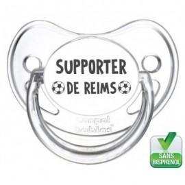 Tétine bébé supporter de Reims