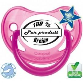 """Tétine bébé """"100% pure produit breton"""""""