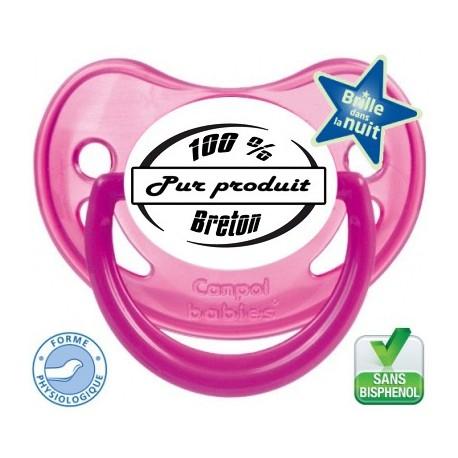 """Tétine personnalisée """"100% pure produit breton"""""""
