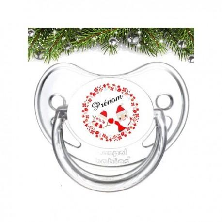 Tétine personnalisée père Noël rouge