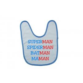 Bavoir personnalisé supermaman