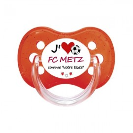 Tétine personnalisée i love le FC Metz comme...