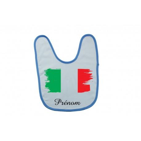 Bavoir personnalisé drapeau de l'Italie et prénom
