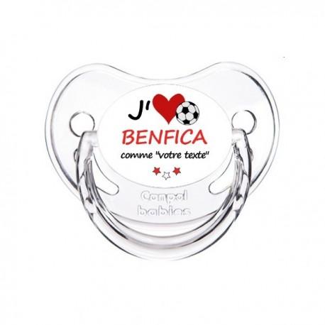 Tétine personnalisée i love Benfica comme papa