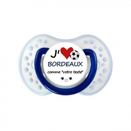 Tétine personnalisée i love Bordeaux comme papa