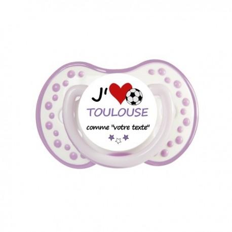 Tétine personnalisée i love Toulouse comme..