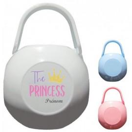 Boite à tétine personnalisée the princess et prénom