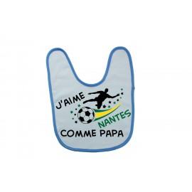 Bavoir personnalisé j'aime Nantes comme ..