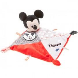 Doudou personnalisé Mickey rouge et prénom