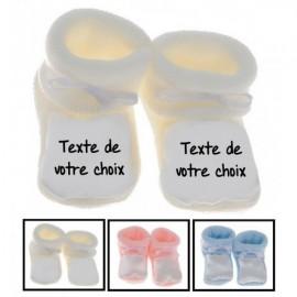 Chaussons bébé personnalisés avec votre texte