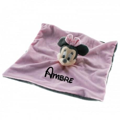 Doudou personnalisé Minnie pastel