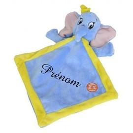 Doudou personnalisé Dumbo bleu et prénom