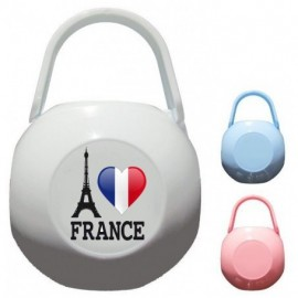 Boite à tétine personnalisée i love France