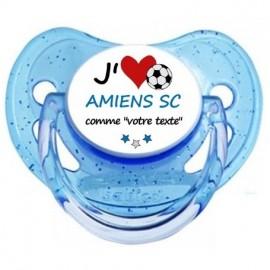 Tétine personnalisée j'aime Amiens comme...