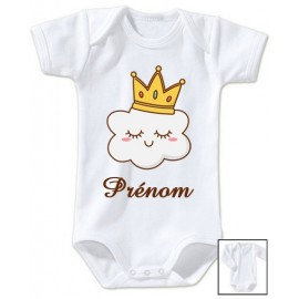 Body personnalisé nuage avec une couronne de roi et prénom