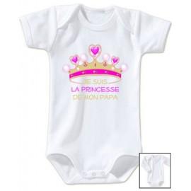Body personnalisé je suis la princesse de mon papa