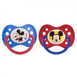 Tétine personnalisée Disney avec Mickey lot de 2 (taille 6 mois)