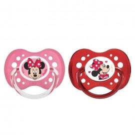 Tétine personnalisée Disney avec Minnie lot de 2 (taille 18 mois)