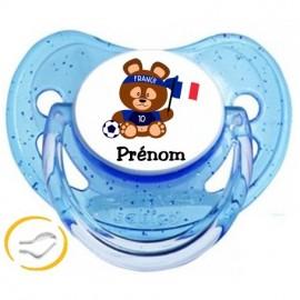 Tétine personnalisée teddy supporter France