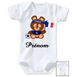 Body personnalisé Teddy bear France et prénom