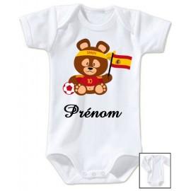 Body personnalisé Teddy bear Espagne et prénom
