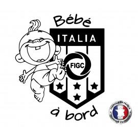 Stickers bébé à bord Italia
